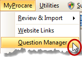 MyProcare Question Manager Menu