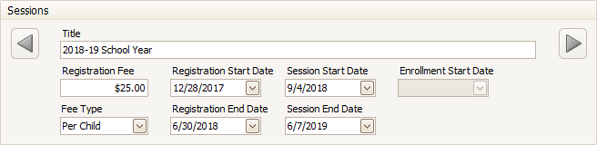 MyProcare: Create Sessions for each Program