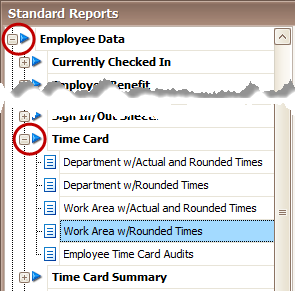 Employee Time Card Reports