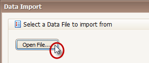 Open a .v10 File to Import