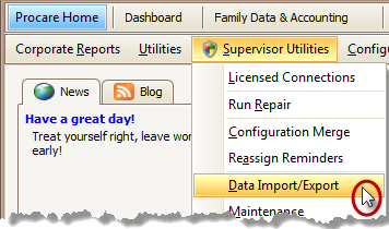 Procare Data Import Utility