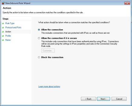 Firewall Exceptions - Procare Support