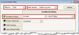 Select Visible Accounts with Enrolled Children